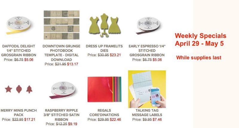 Weekly Specials April 29-May 5