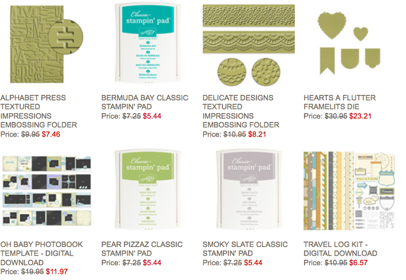 Stampin' Up! Weekly Deals August 5-11, 2014