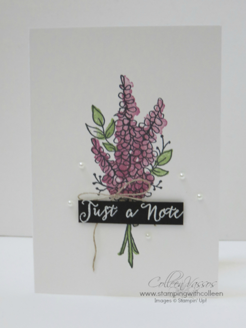 Lots of Lavender notecard