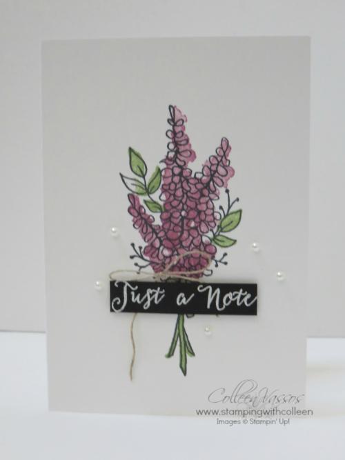 Lots of Lavender notecard