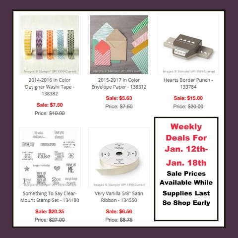 Weekly Deals January 12-18