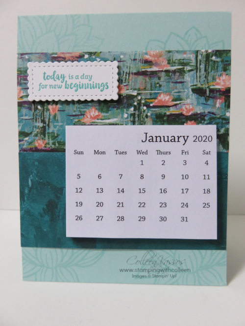 2020 calendar blue